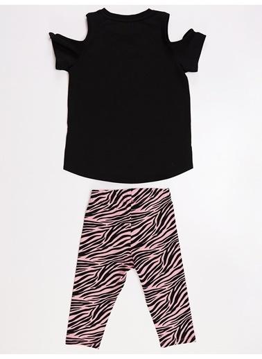 Mushi Unique Zebra Kız Tunik Takım Renkli